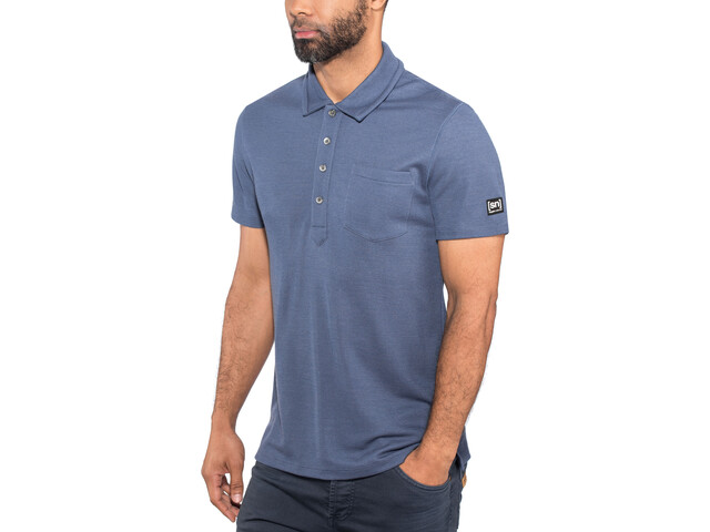 super.natural Comfort Piquet Polo Men Dark Avio